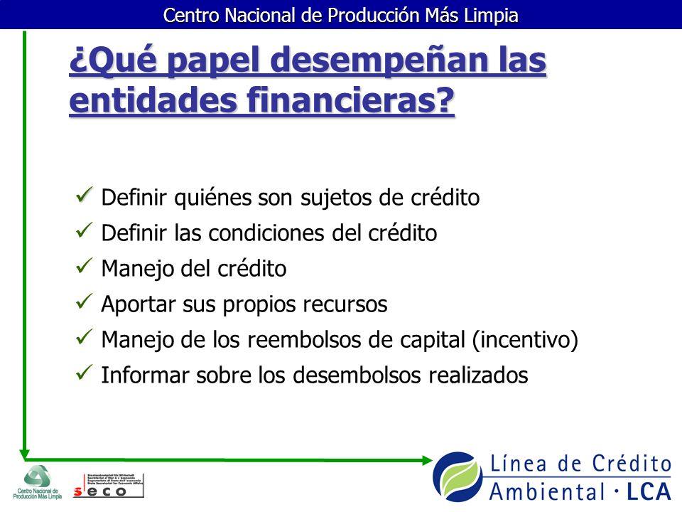 ¿Qué papel desempeñan las entidades financieras