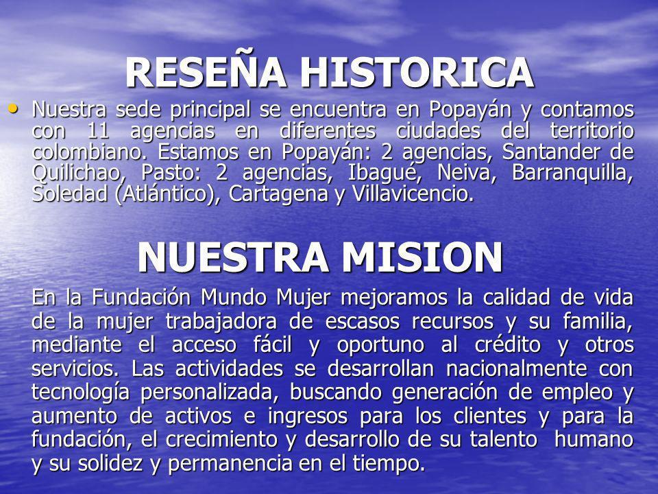RESEÑA HISTORICA NUESTRA MISION