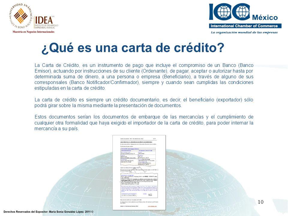 ¿Qué es una carta de crédito