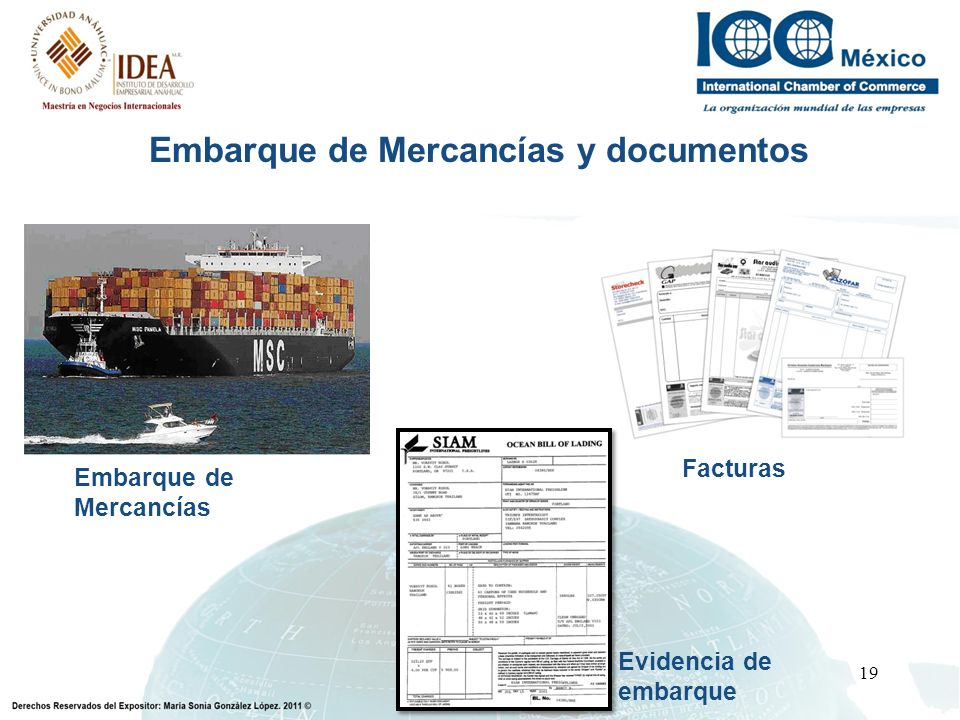 Embarque de Mercancías y documentos