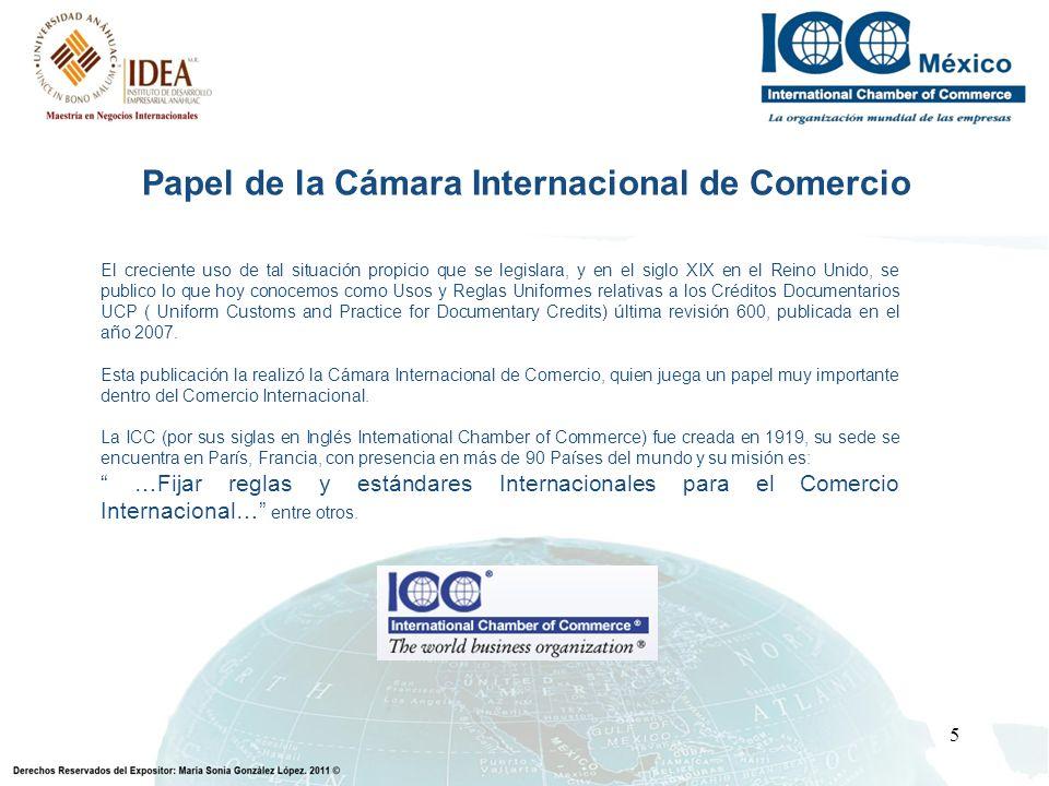 Papel de la Cámara Internacional de Comercio