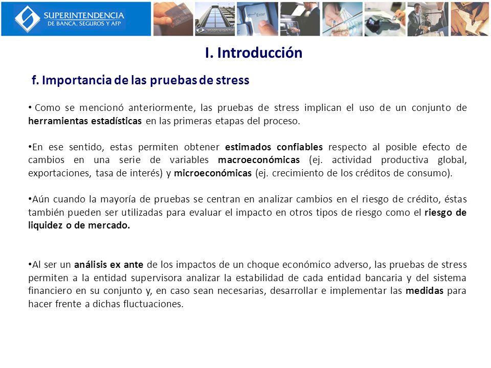 I. Introducción f. Importancia de las pruebas de stress