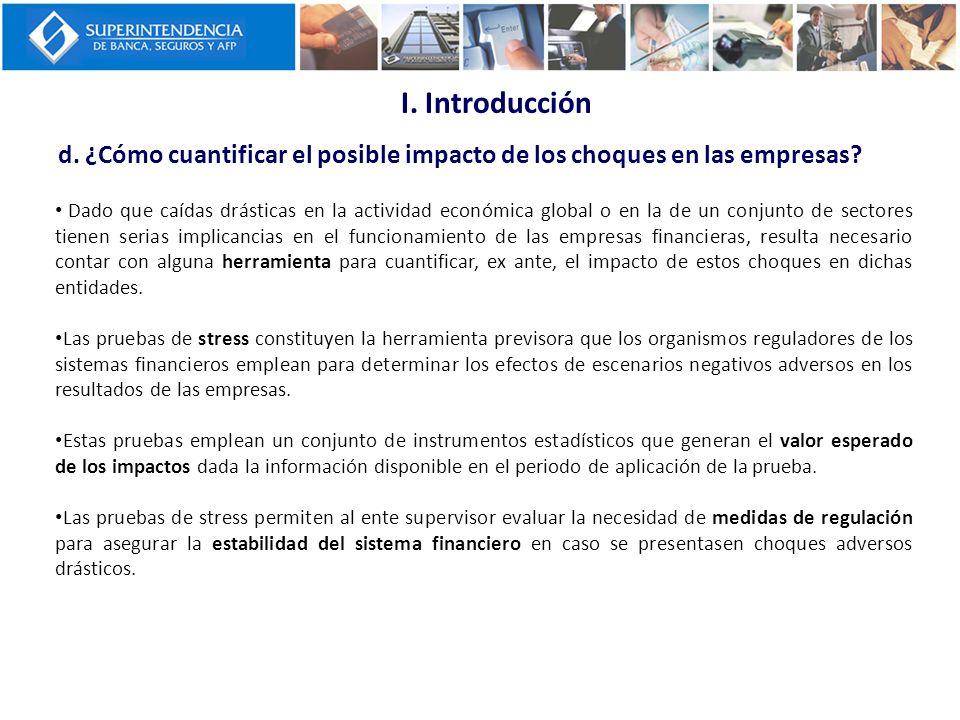 I. Introducción d. ¿Cómo cuantificar el posible impacto de los choques en las empresas