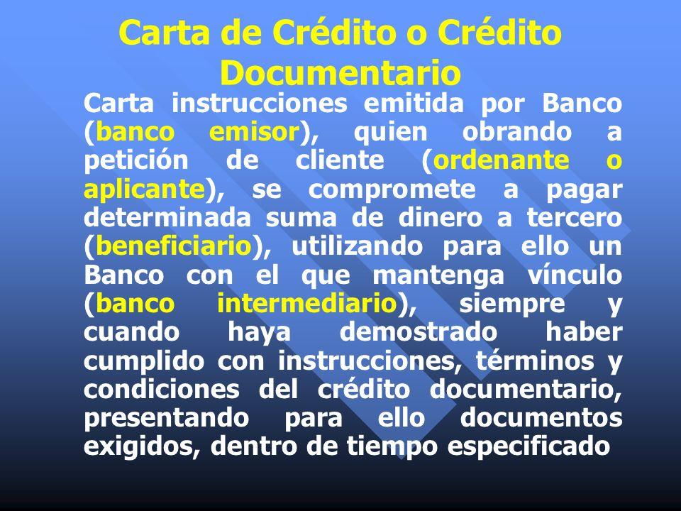 Carta de Crédito o Crédito Documentario