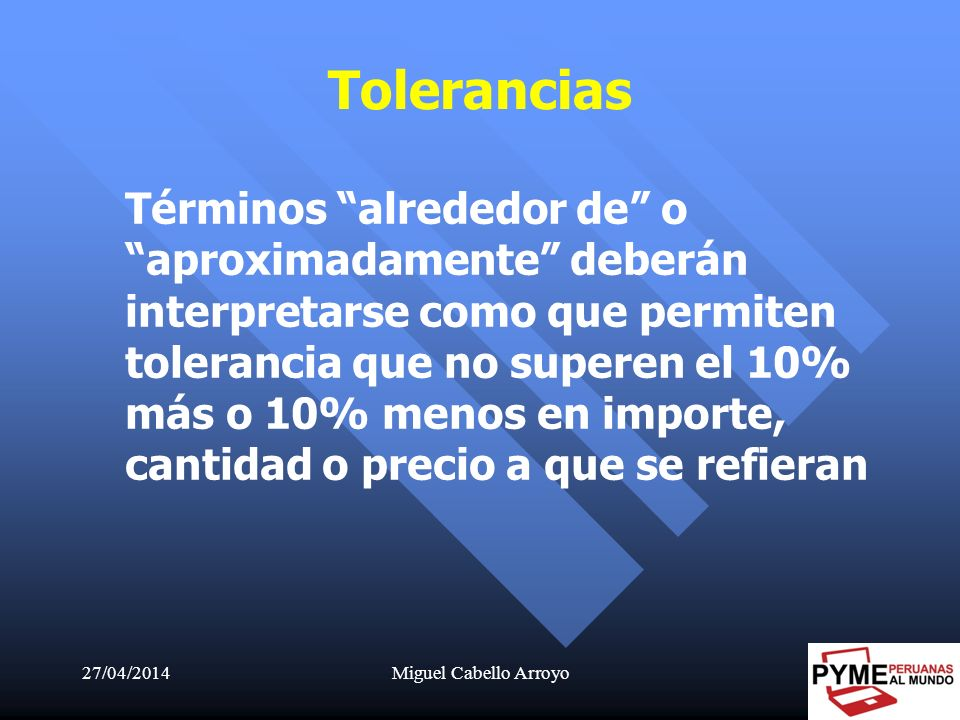 Tolerancias