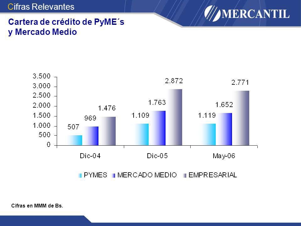 Cartera de crédito de PyME´s y Mercado Medio