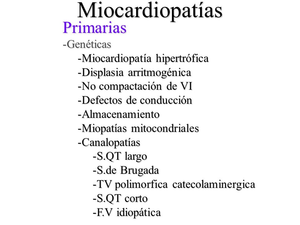 Miocardiopatías Primarias Genéticas Miocardiopatía hipertrófica