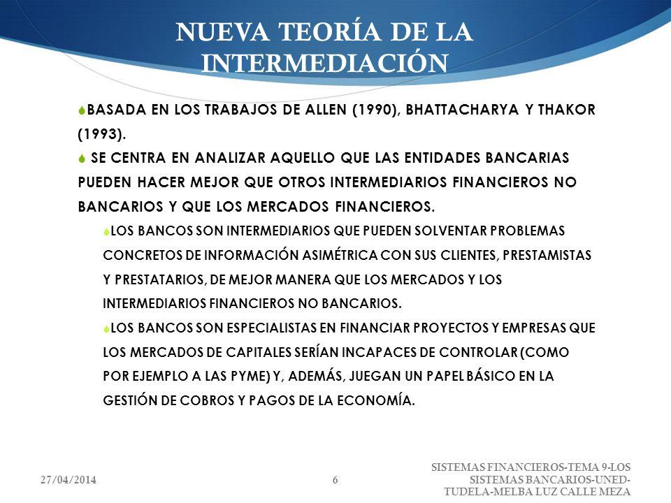 NUEVA TEORÍA DE LA INTERMEDIACIÓN