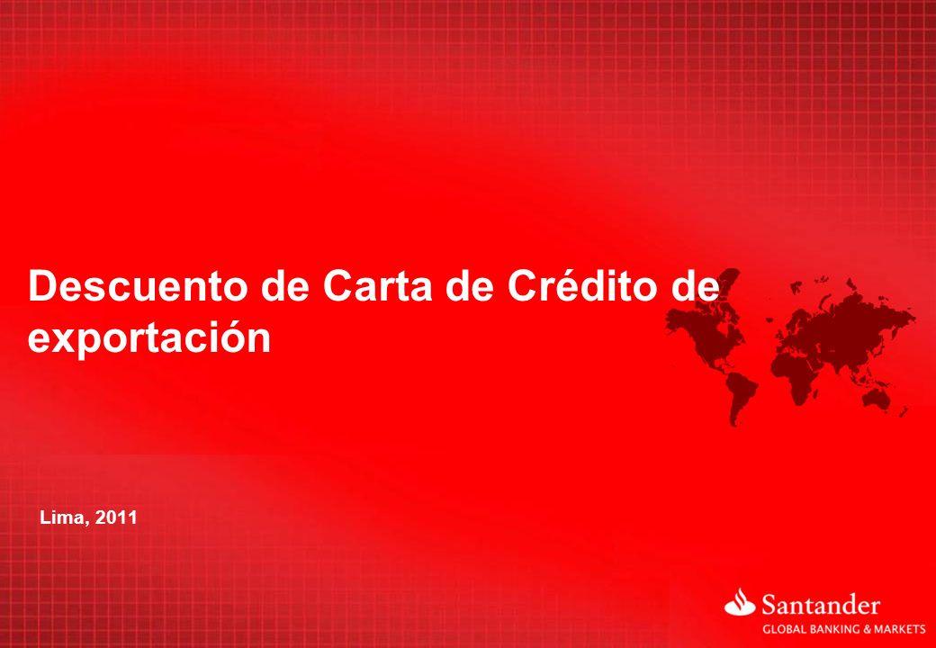 Descuento de Carta de Crédito de exportación
