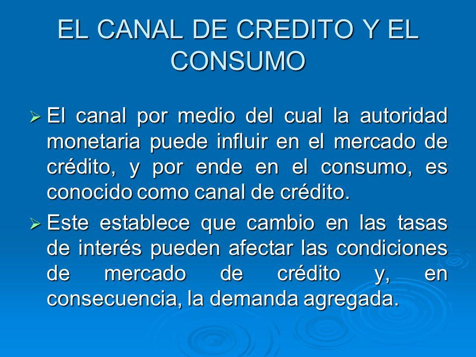 EL CANAL DE CREDITO Y EL CONSUMO