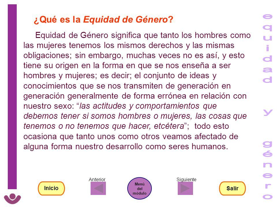 equidad y género ¿Qué es la Equidad de Género