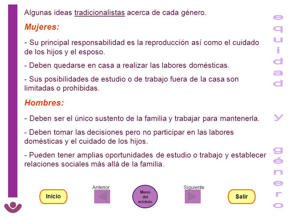 equidad y género Mujeres: