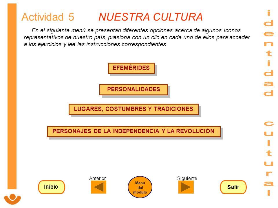 identidad cultural Actividad 5 NUESTRA CULTURA