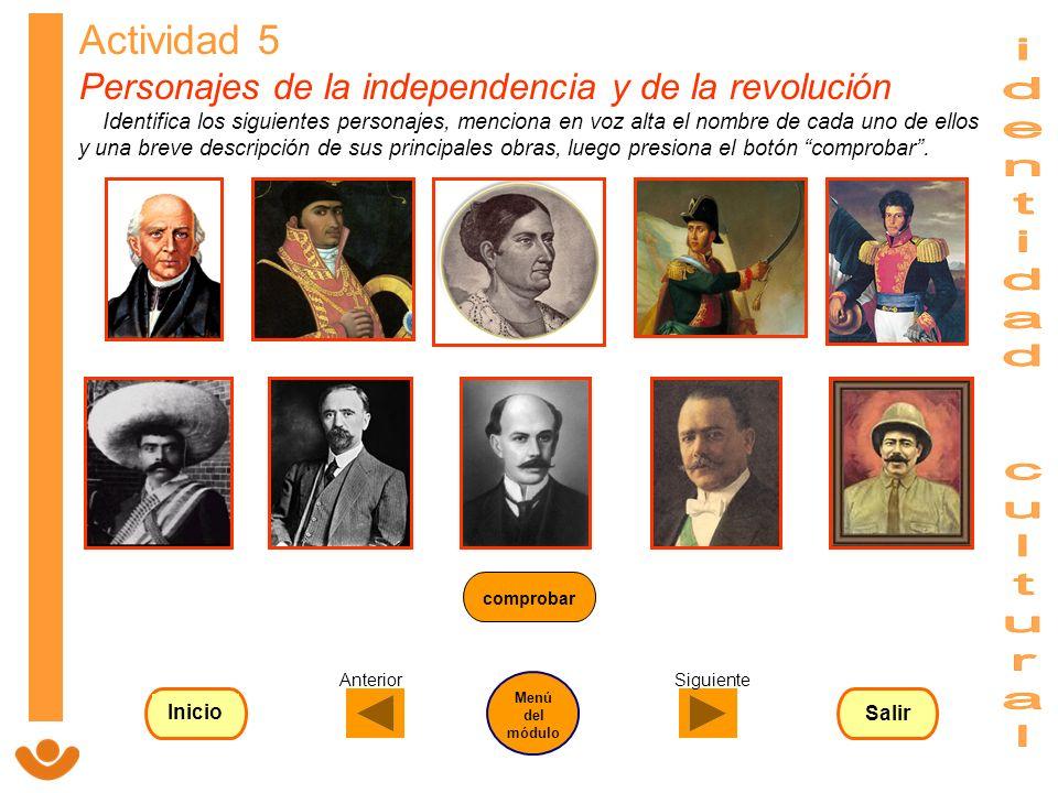 Actividad 5 Personajes de la independencia y de la revolución