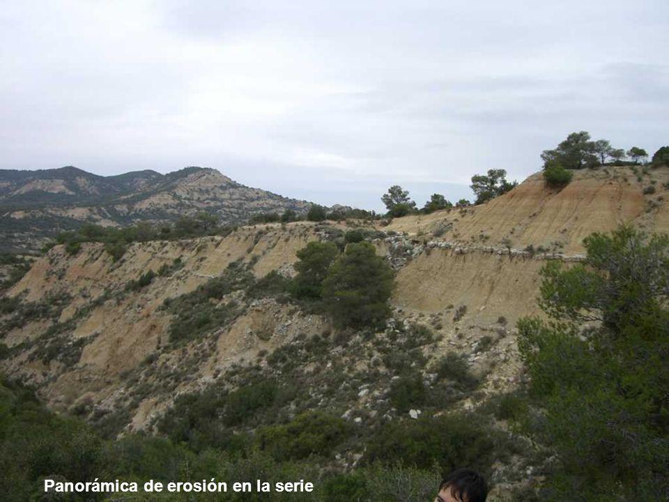 Panorámica de erosión en la serie