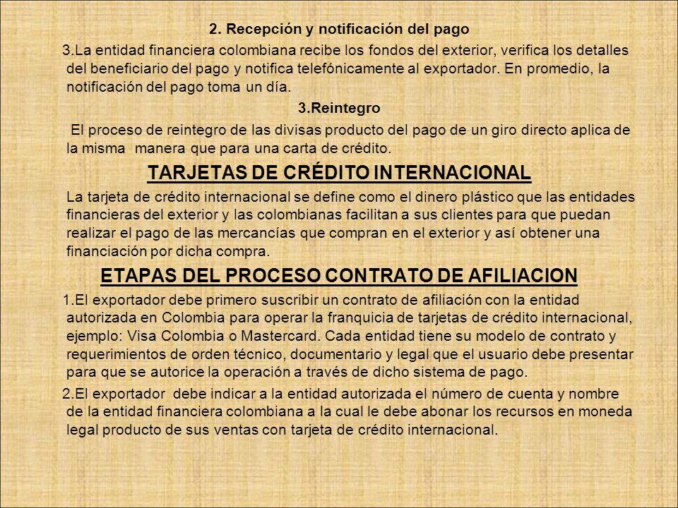 TARJETAS DE CRÉDITO INTERNACIONAL