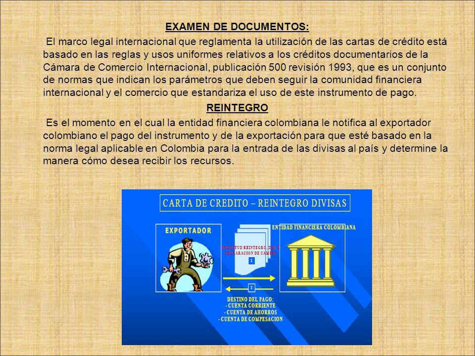EXAMEN DE DOCUMENTOS: