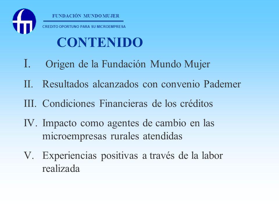 CONTENIDO Origen de la Fundación Mundo Mujer