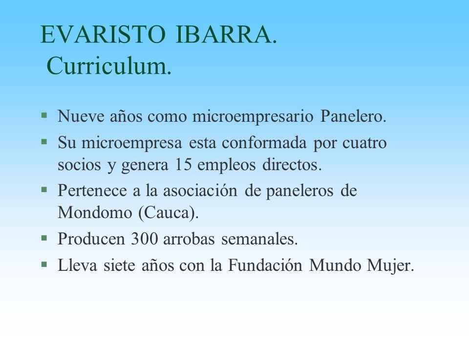 EVARISTO IBARRA. Curriculum.