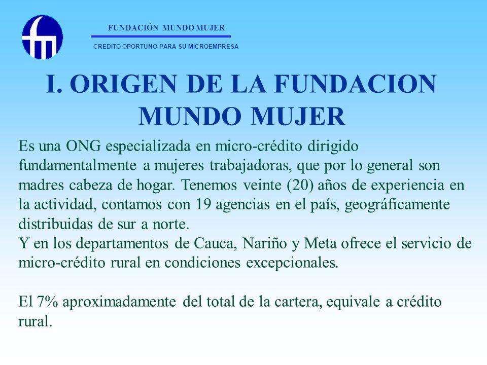 I. ORIGEN DE LA FUNDACION MUNDO MUJER