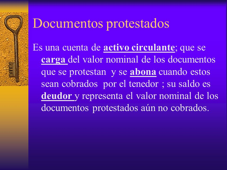Documentos protestados