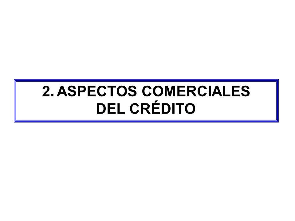 ASPECTOS COMERCIALES DEL CRÉDITO