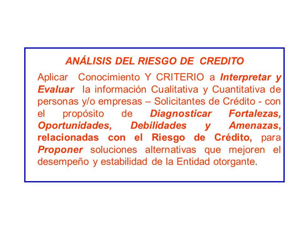 ANÁLISIS DEL RIESGO DE CREDITO