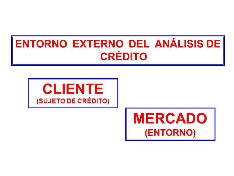 ENTORNO EXTERNO DEL ANÁLISIS DE CRÉDITO