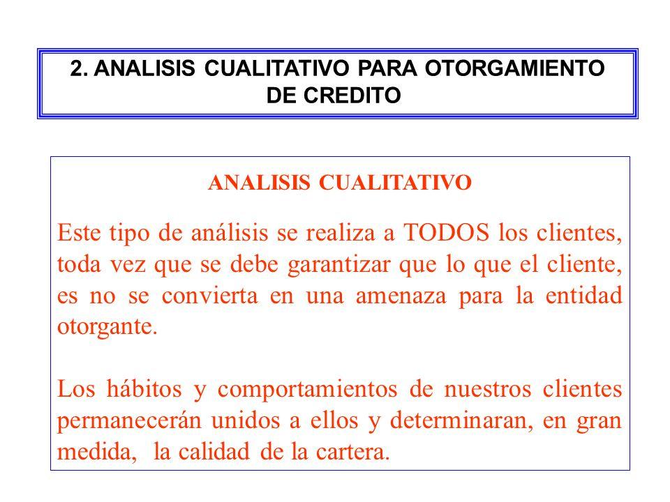 2. ANALISIS CUALITATIVO PARA OTORGAMIENTO