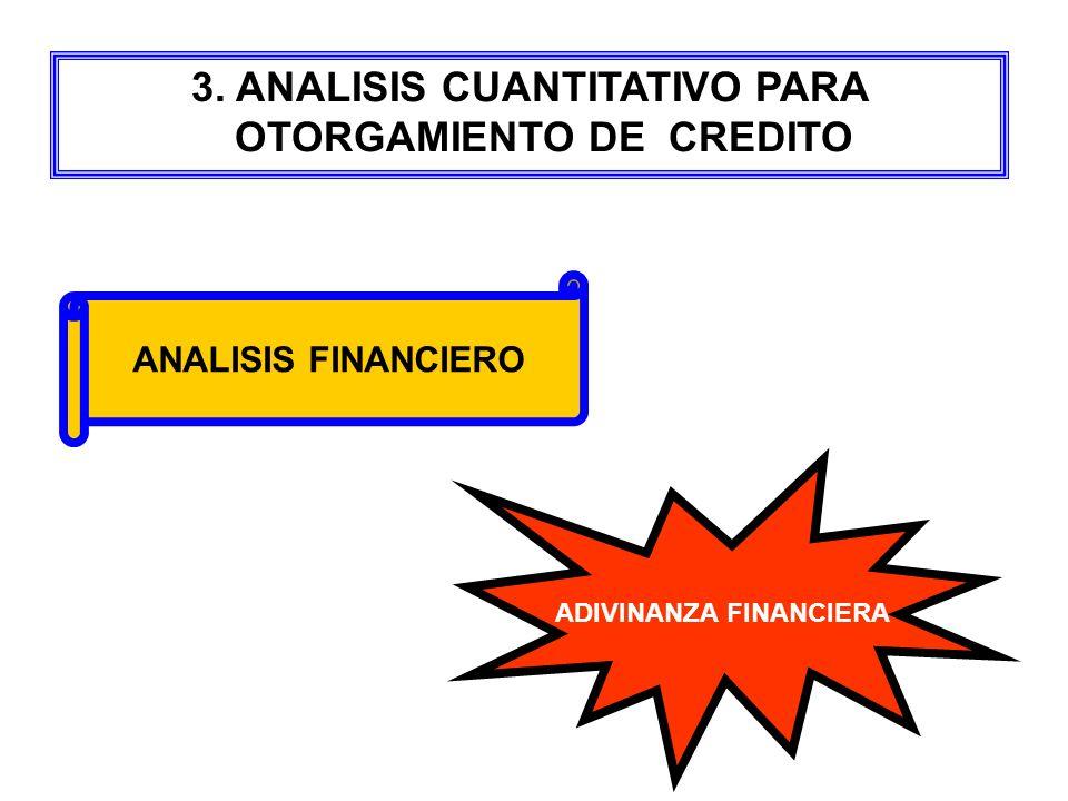 3. ANALISIS CUANTITATIVO PARA OTORGAMIENTO DE CREDITO