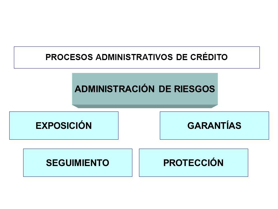 PROCESOS ADMINISTRATIVOS DE CRÉDITO ADMINISTRACIÓN DE RIESGOS