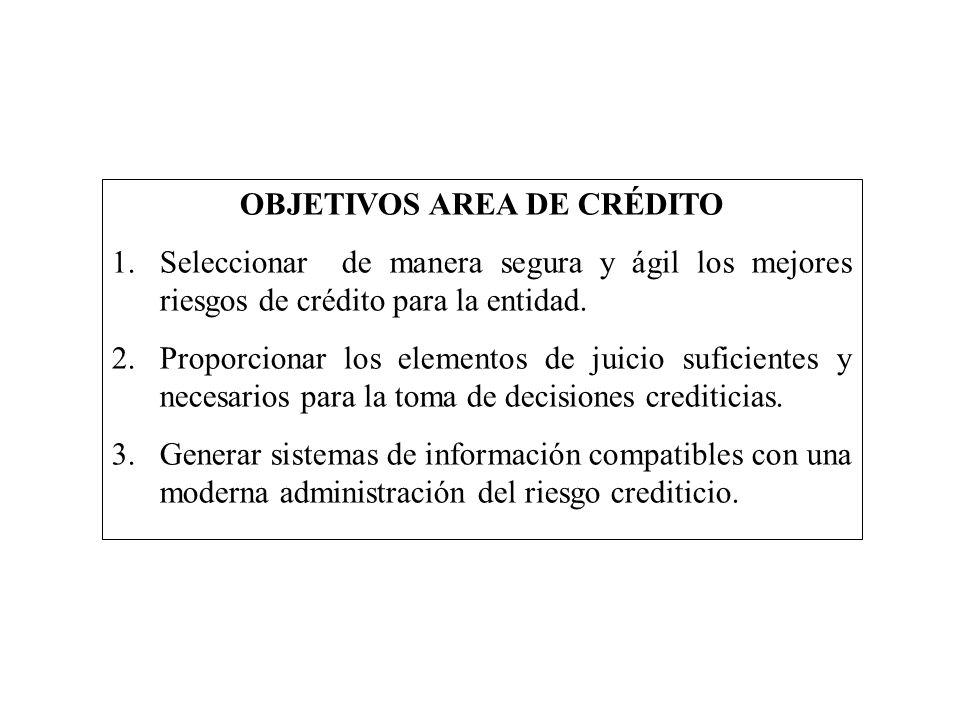 OBJETIVOS AREA DE CRÉDITO