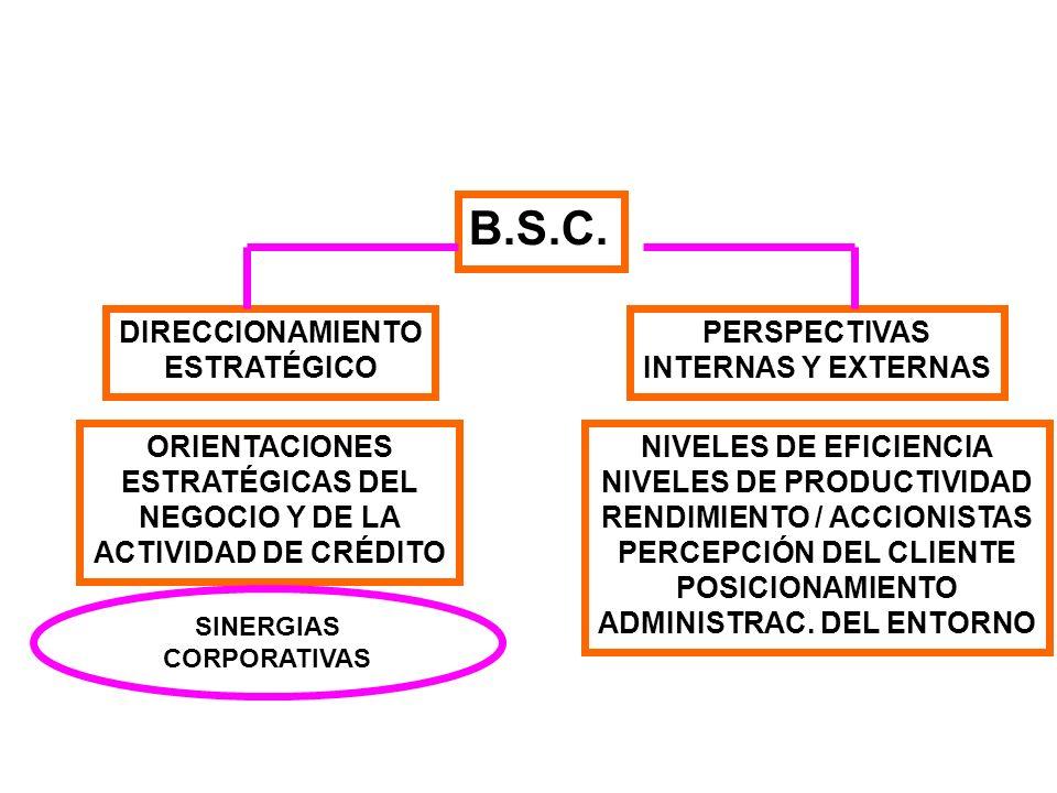 B.S.C. DIRECCIONAMIENTO ESTRATÉGICO PERSPECTIVAS INTERNAS Y EXTERNAS