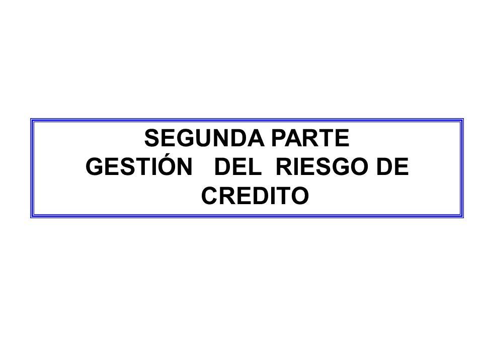 GESTIÓN DEL RIESGO DE CREDITO