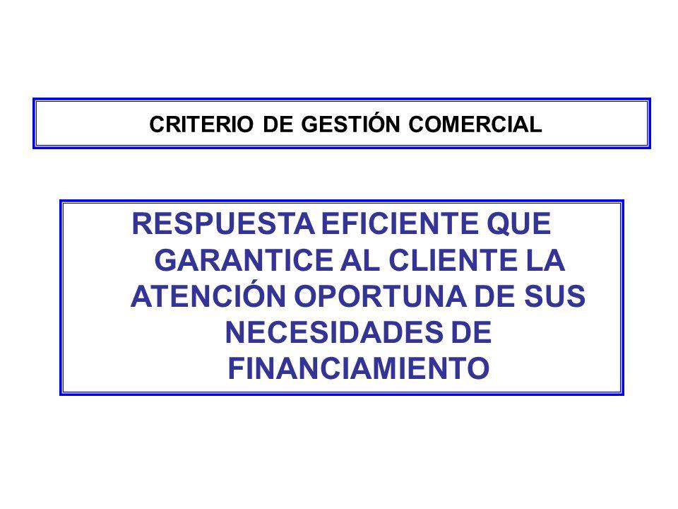CRITERIO DE GESTIÓN COMERCIAL