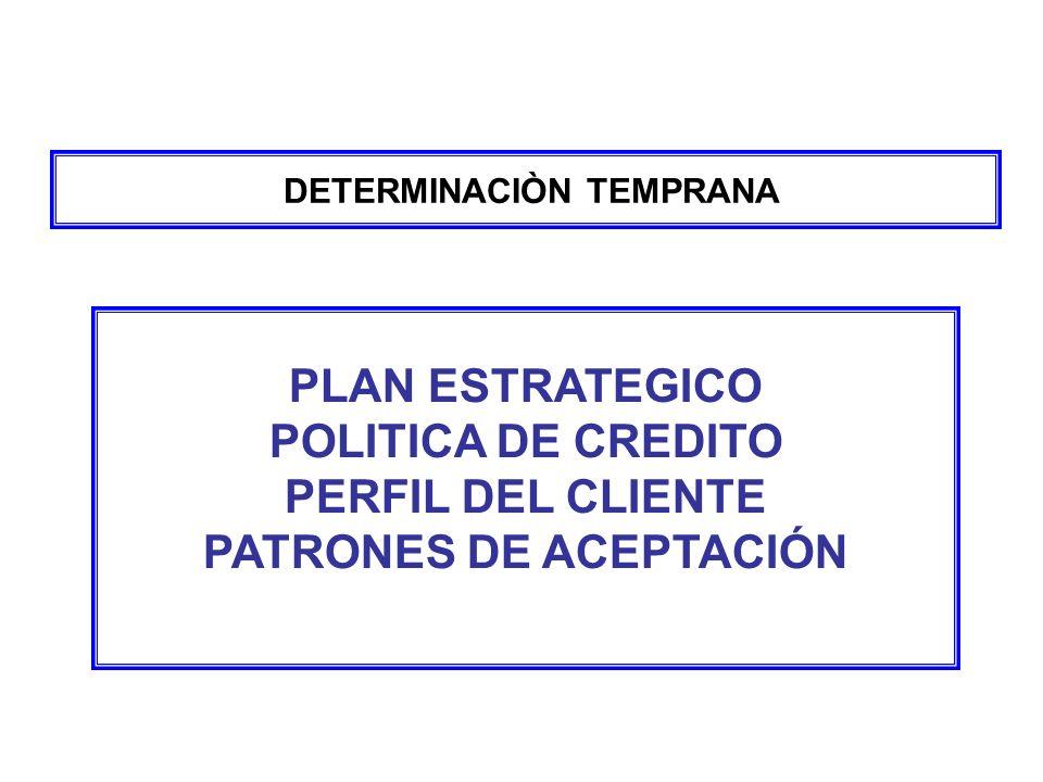 DETERMINACIÒN TEMPRANA PATRONES DE ACEPTACIÓN