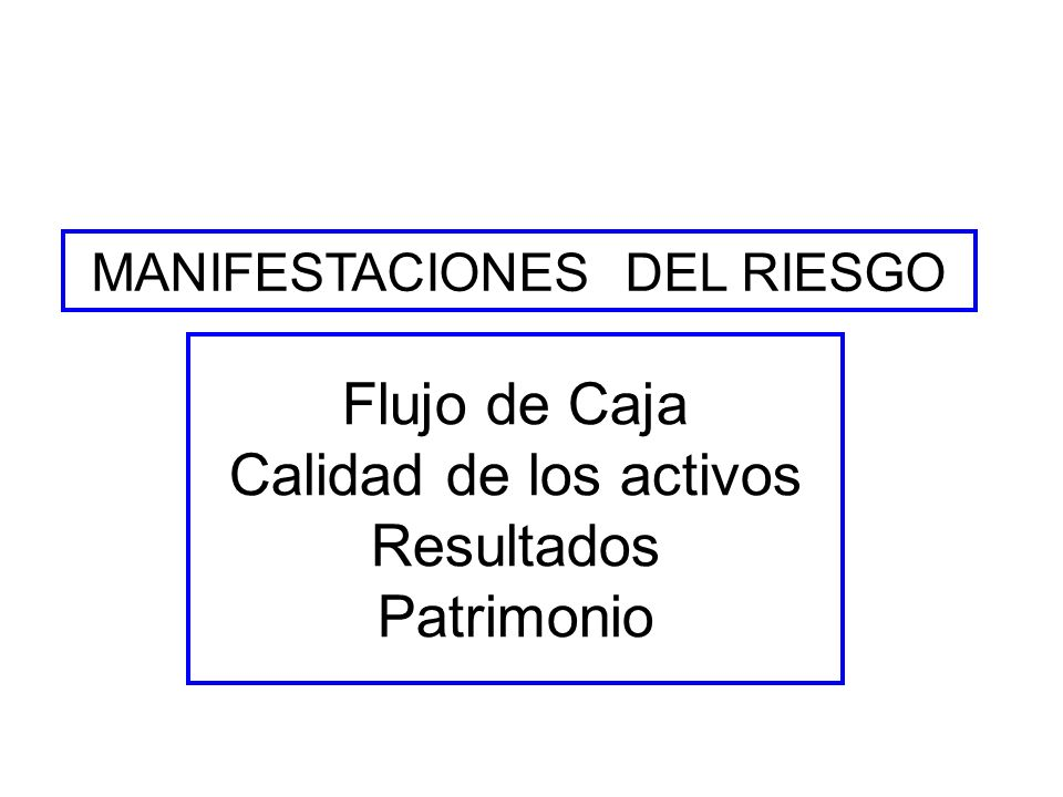MANIFESTACIONES DEL RIESGO