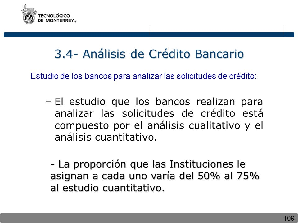 3.4- Análisis de Crédito Bancario