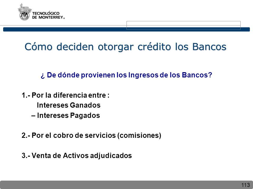 Cómo deciden otorgar crédito los Bancos