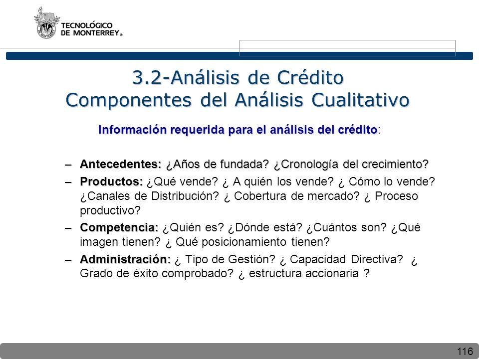 3.2-Análisis de Crédito Componentes del Análisis Cualitativo