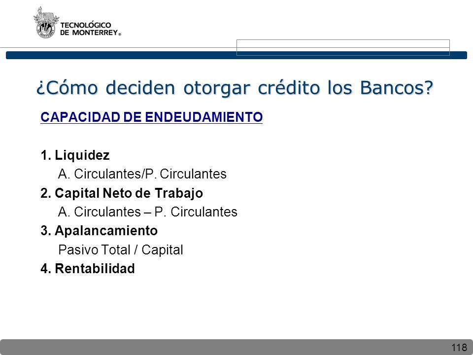 ¿Cómo deciden otorgar crédito los Bancos