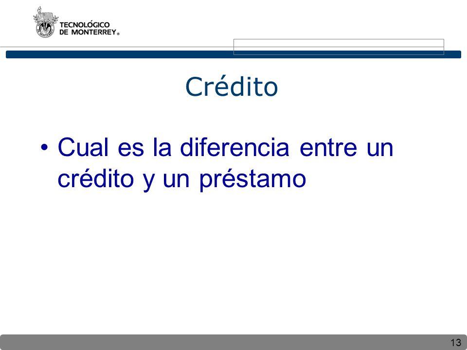 Crédito Cual es la diferencia entre un crédito y un préstamo