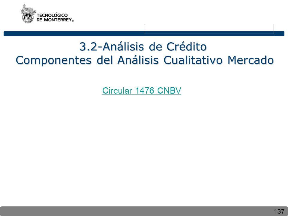 3.2-Análisis de Crédito Componentes del Análisis Cualitativo Mercado