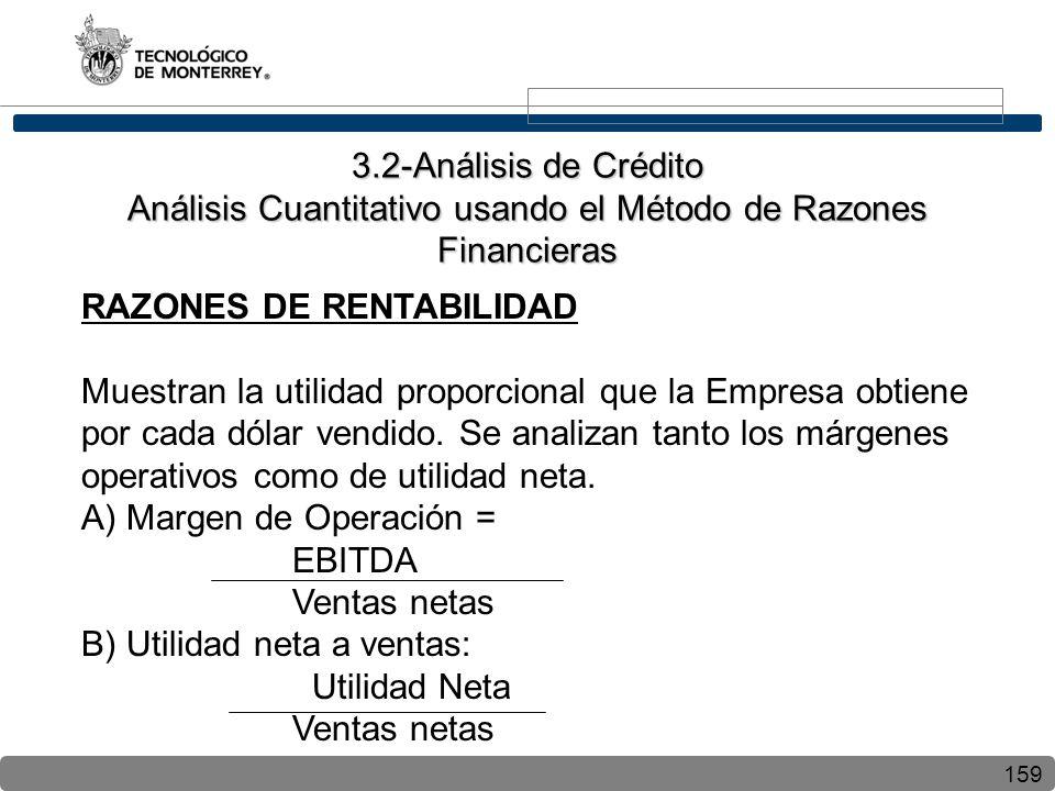3.2-Análisis de Crédito Análisis Cuantitativo usando el Método de Razones Financieras