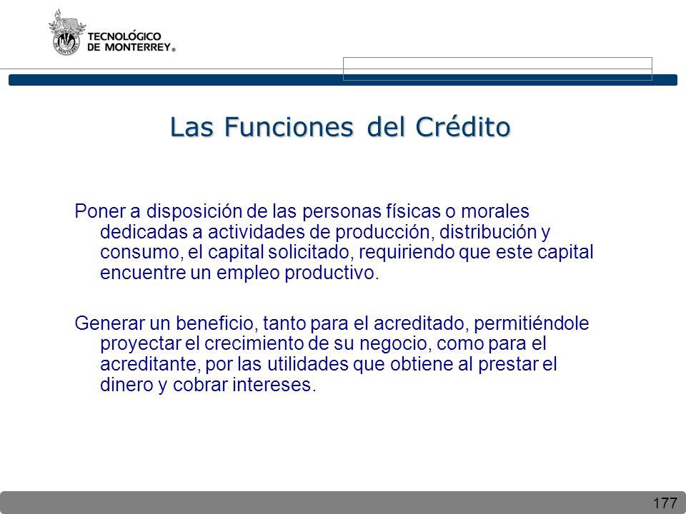 Las Funciones del Crédito