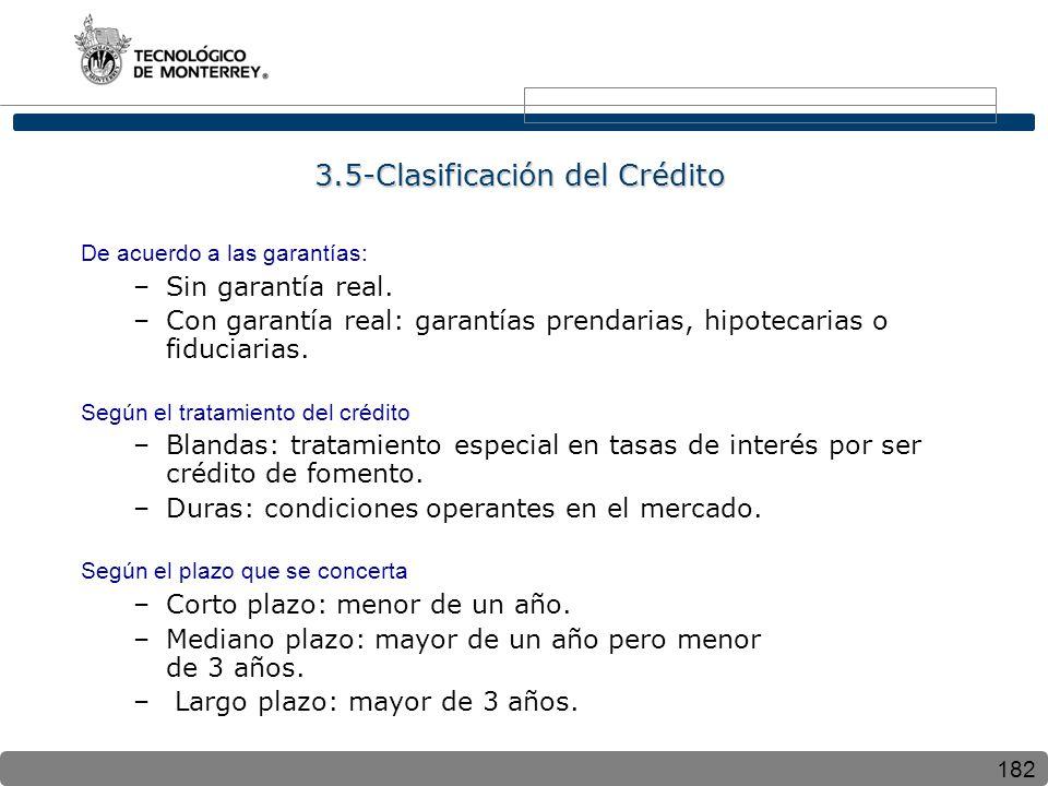 3.5-Clasificación del Crédito