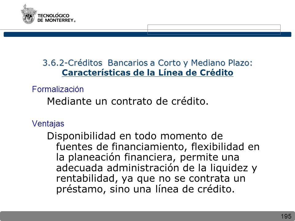 Mediante un contrato de crédito.