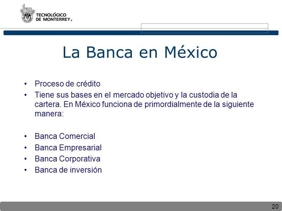La Banca en México Proceso de crédito