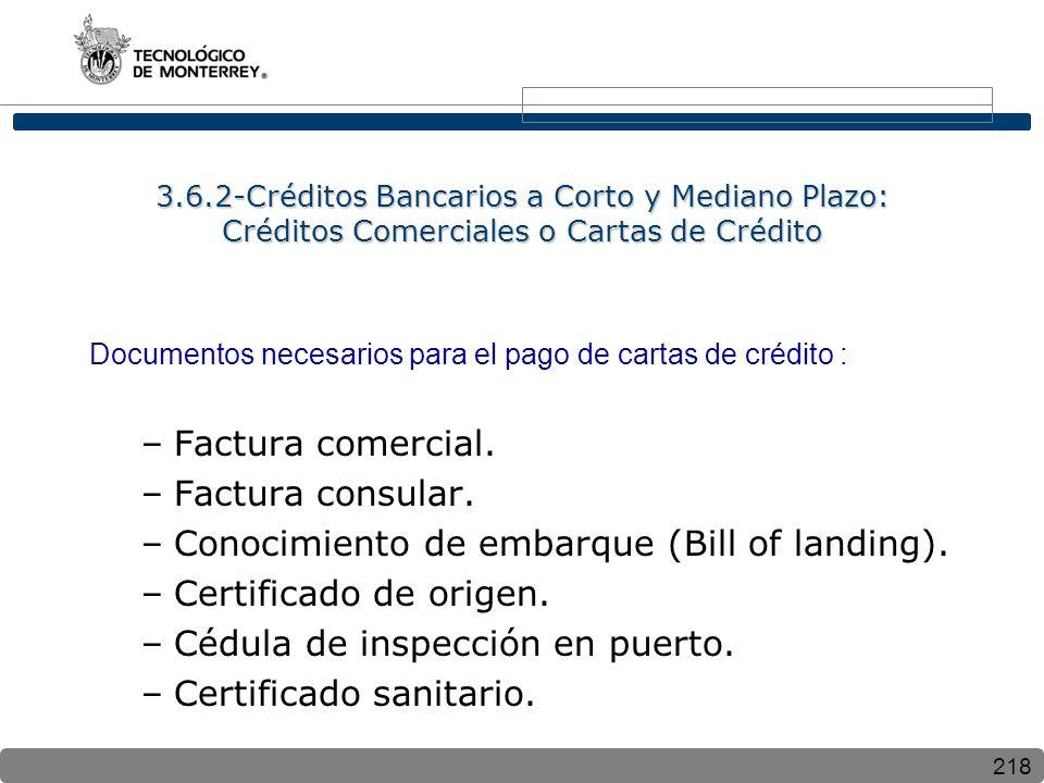 Conocimiento de embarque (Bill of landing). Certificado de origen.