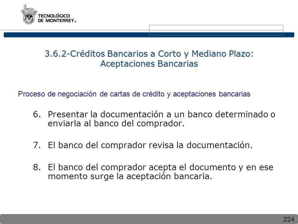 El banco del comprador revisa la documentación.